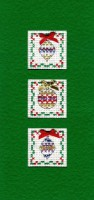 Baubles Christmas card cross stitch kit