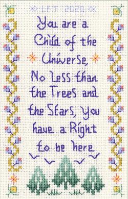 Child of the Universe cross stitch