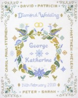 Diamond Anniversary sampler cross stitch kit
