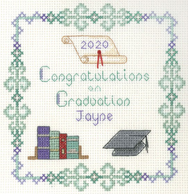 Graduation sampler cross stitch