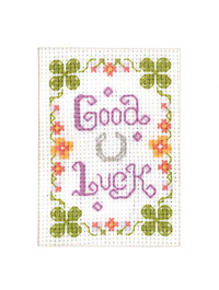 mini Good Luck card cross stitch