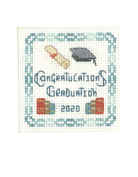 mini graduation congratulations card cross stitch