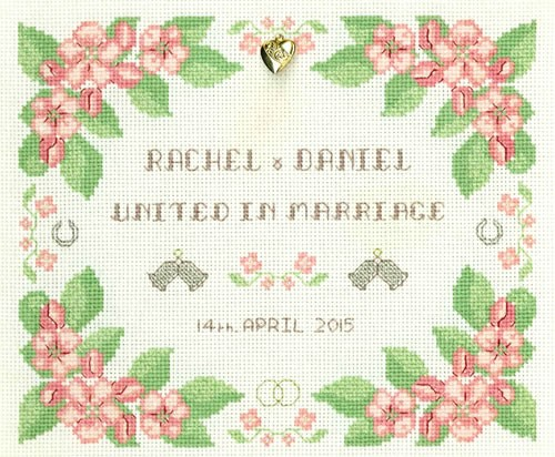 Floral Marriage Sampler cross stitch