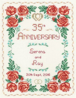 Rose 35th Anniversary Sampler cross stitch kit