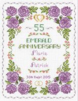 Rose 55th anniversary sampler cross stitch kit