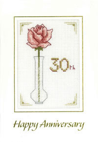 rose pearl anniversary card