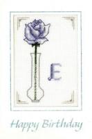 Blue Initial birthday card
