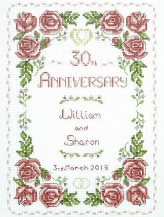 Rose 30th Anniversary Sampler cross stitch
