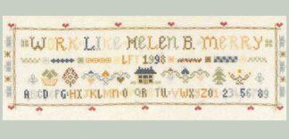 Victorian saying samplercross stitch