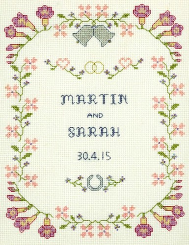 Freesia wedding sampler cross stitch kit