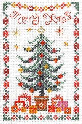 Mini Christmas Tree Sampler cross stitch