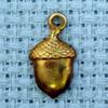 acorn brass charm