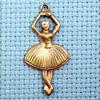 ballerina brass charm