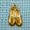 ballet shoes brass charm
