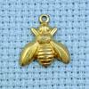 bee brass charm