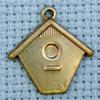 birdhouse brass charm