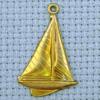boat brass charm