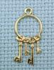 keys brass charm