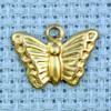 butterfly brass charm