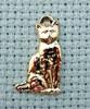 cat brass charm