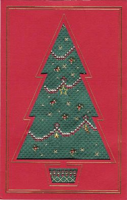 Charm Christmas Tree card cross stitch kit