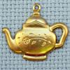 daisy teapot brass charm