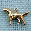 dog brass charm