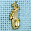 golf bag brass charm