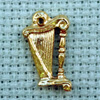 harp brass charm
