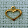 heart shape brass charm