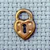 padlock brass charm