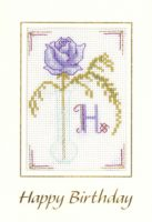 Mauve Initial birthday card