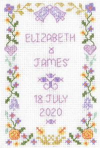 Mini Wedding Sampler cross stitch
