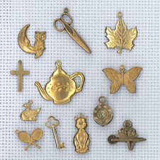 mixed brass charms