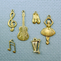 Musical brass charms