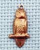 owl brass charm