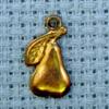 pear brass charm