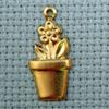 planter brass charm