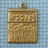 seeds brass charm
