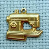 sewing needle brass charm