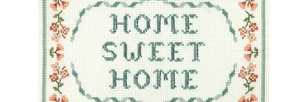 home sweet home cross stitch sampler