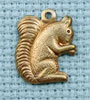 squirrel brass charm