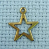 star shape brass charm