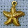 starfish brass charm