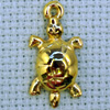 turtle brass charm