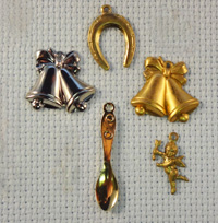 set of Wedding brass charms