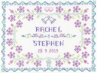 Lilac Wedding sampler cross stitch
