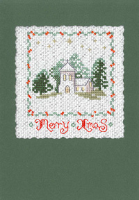 Winter Christmas card cross stitch