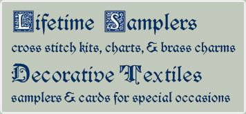 Lifetime Samplers & Decorative Textiles cross stitch kits