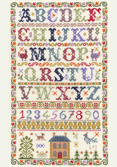 Traditional Alphabet sampler cross stitch kit